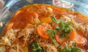 Chunky squash chicken soup