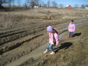 Playing in mud