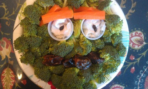 Fun broccoli snack