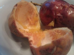 Eaten passion fruit