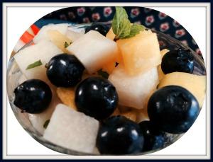 Jicama and fruit