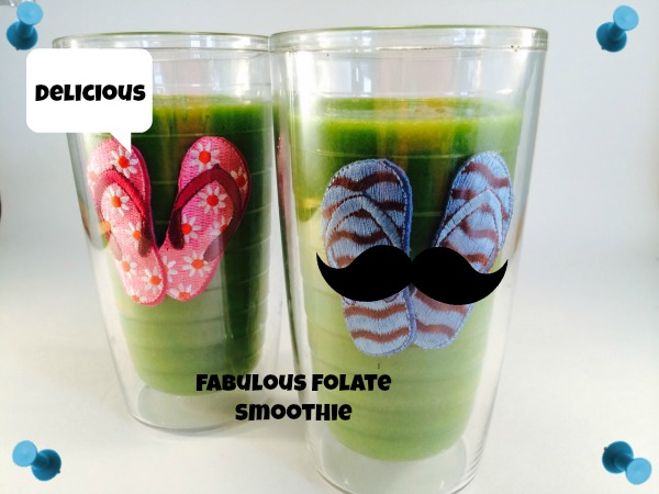 Green smoothie rich in folate