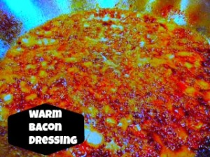 warm bacon dressing